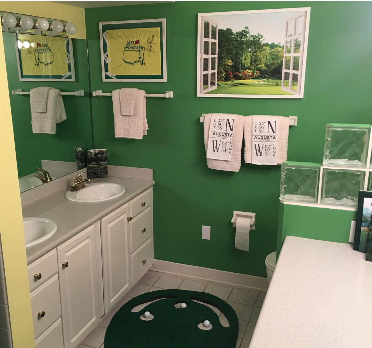 This Masters Themed Bathroom Is A Beautiful Sight To Behold This Is The Loop Golf Digest