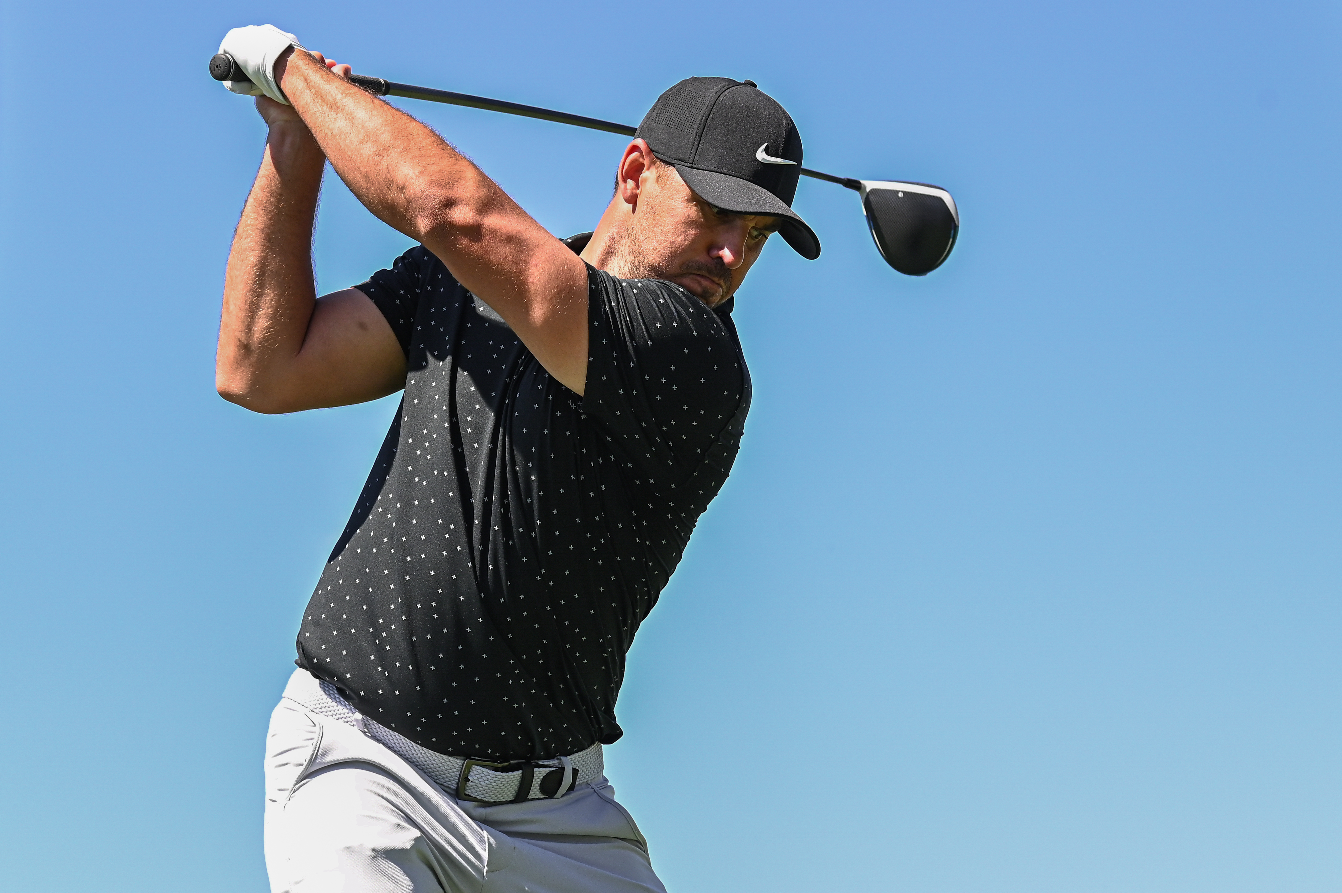 Masters 2021 Coming Off Knee Surgery Brooks Koepka Shows Up For Practice At Augusta Golf News And Tour Information Golfdigest Com
